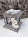 Shabby Chic Rustic Wood Personalised Gift For Bride From Bridesmaid Photo Cube
